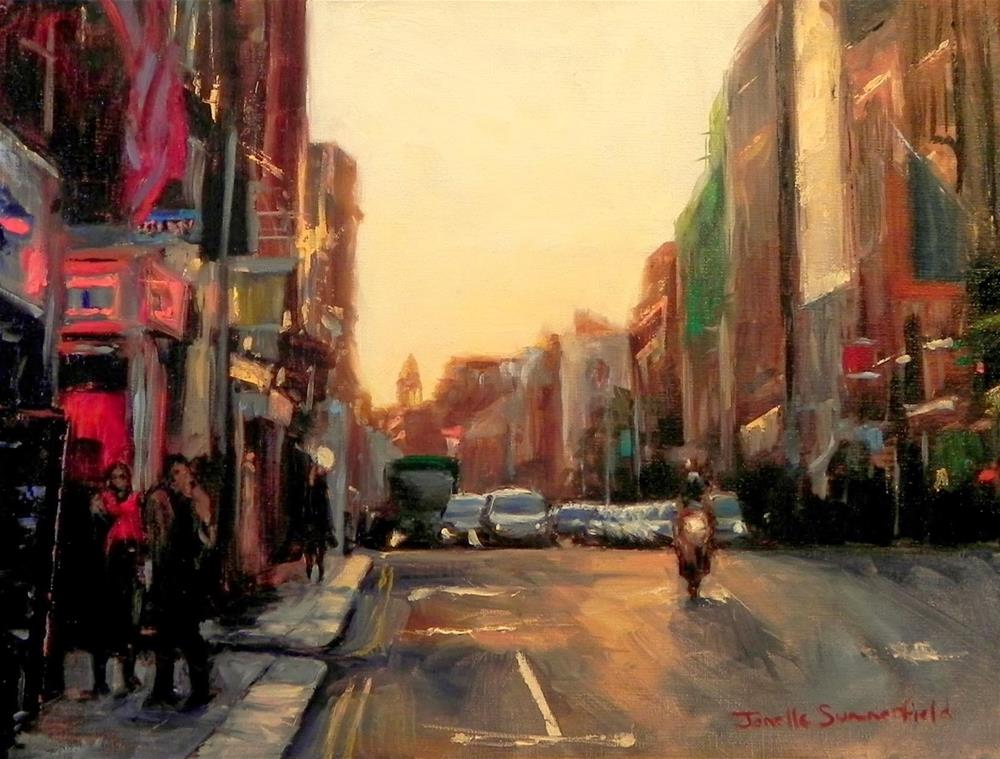 """Dusk in Dublin"" original fine art by Jonelle Summerfield"