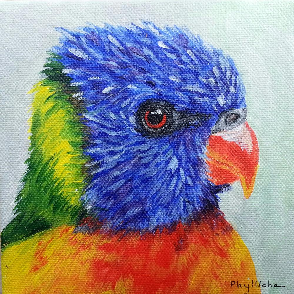 """Scarlet"" original fine art by Phyllisha Hamrick"