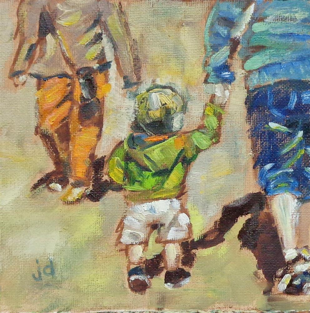 """Walking with my Mom"" original fine art by Jean Delaney"