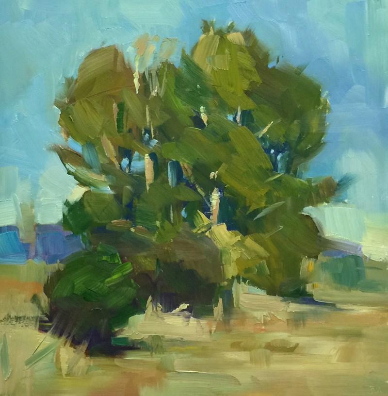 """Golden Gardens Glow"" original fine art by Patti McNutt"