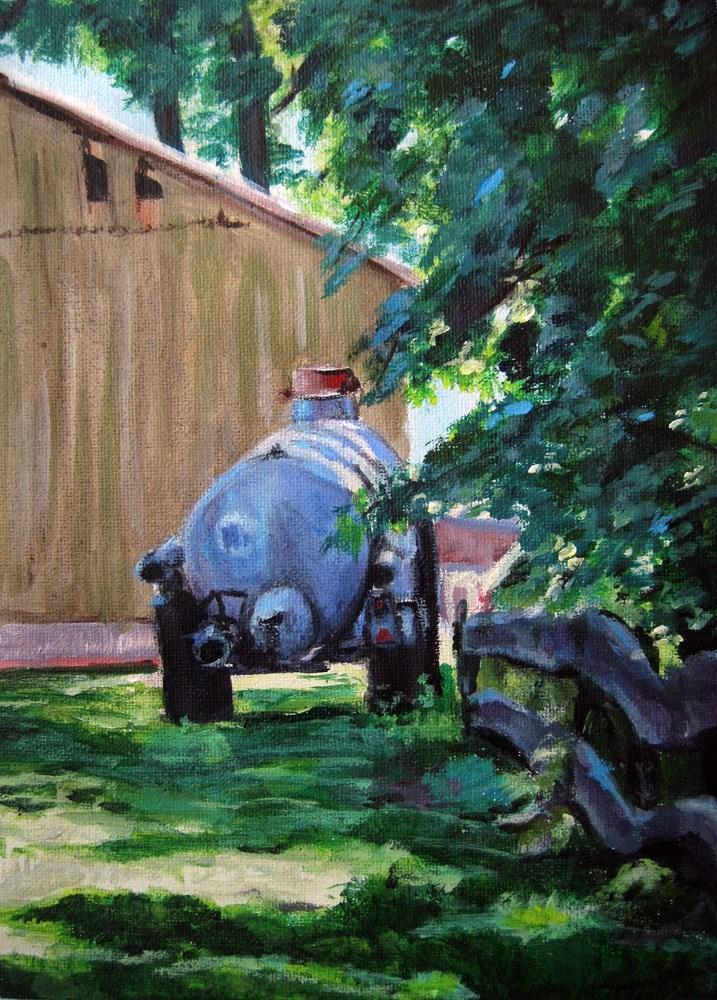 In the sunny Country original fine art by Ulrike Miesen-Schuermann