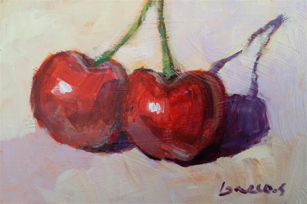 """cherries"" original fine art by salvatore greco"