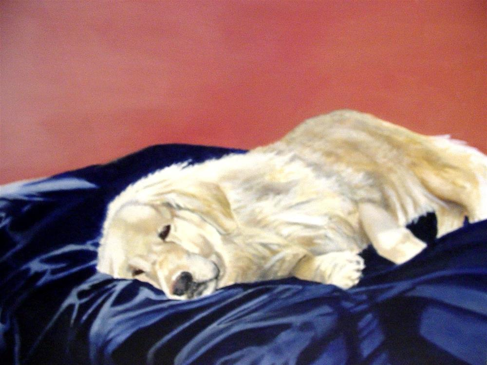 """Golden Slumber"" original fine art by Hilarie Johnson"