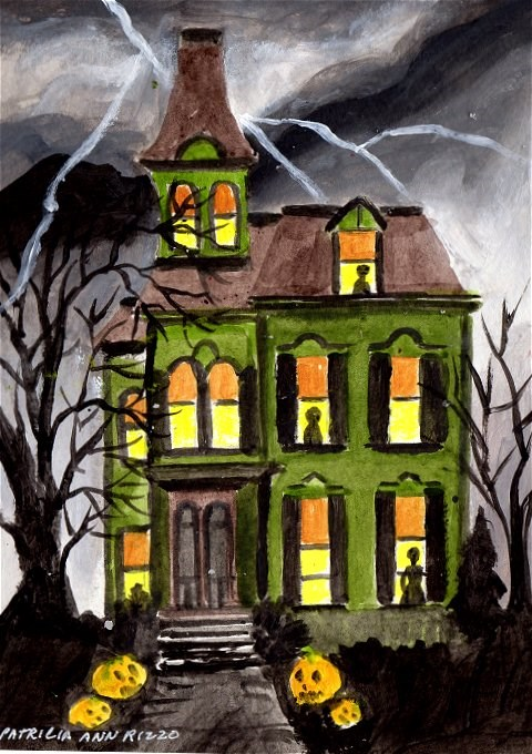 """A Haunted Haunt"" original fine art by Patricia Ann Rizzo"