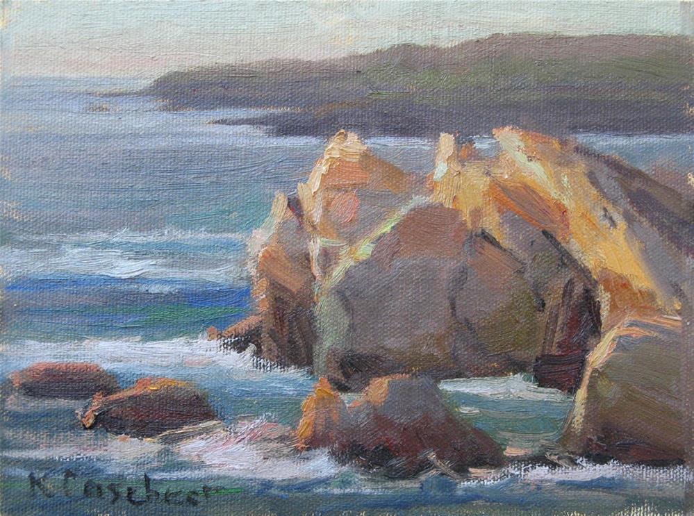 """Sundown at Point Lobos"" original fine art by Kim Casebeer"