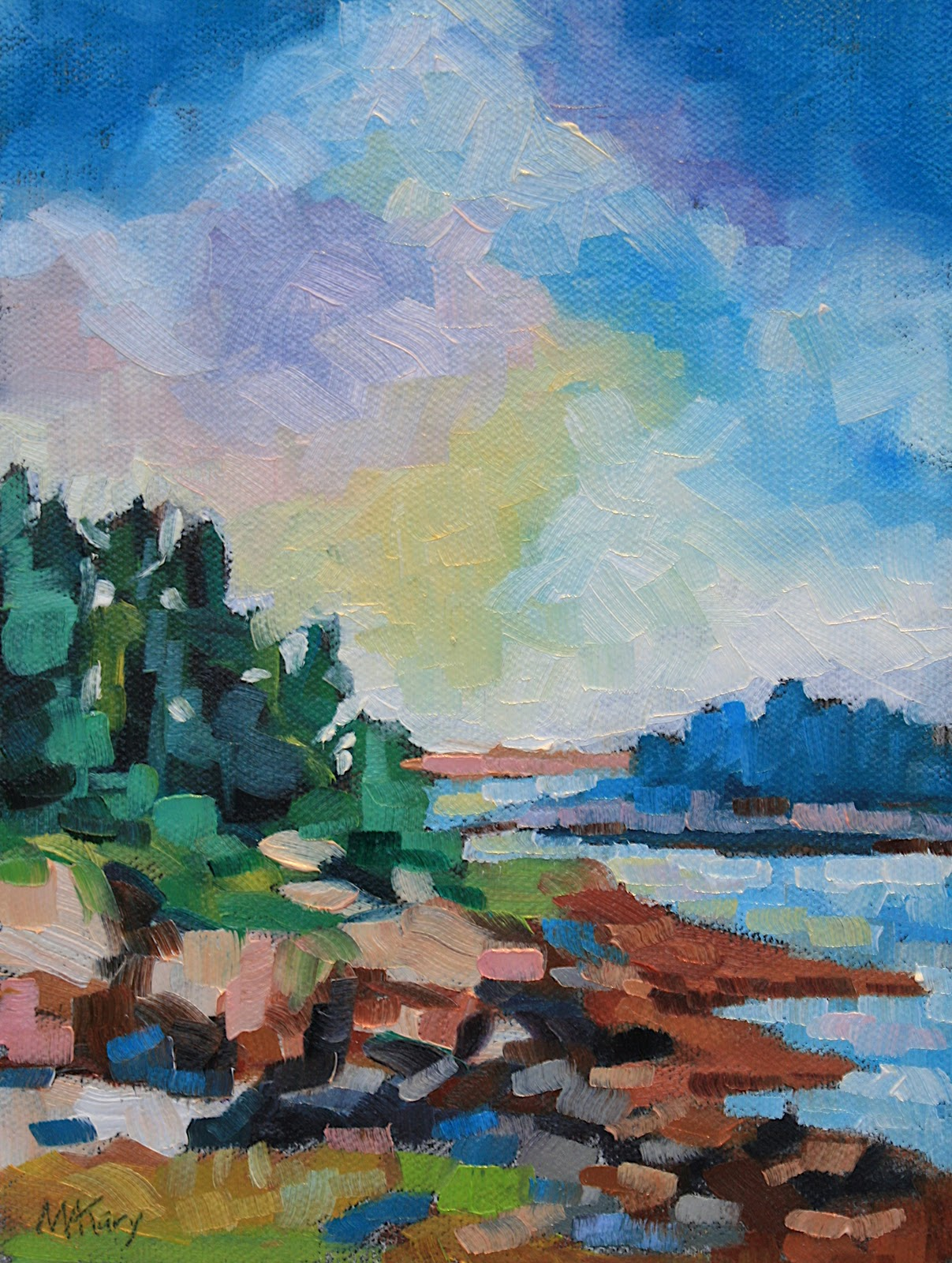 """Maine Landscape #19"" original fine art by Mary Anne Cary"