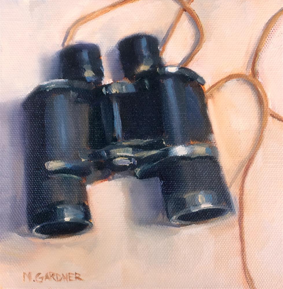 """Grandpa's Binoculars"" original fine art by Nikki Gardner"