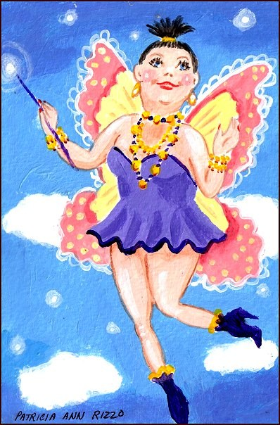 """The Diet Fairy"" original fine art by Patricia Ann Rizzo"