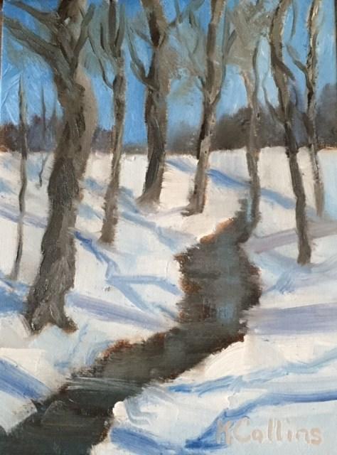"""Under Carolina Blue Skies"" original fine art by Kathy Collins"