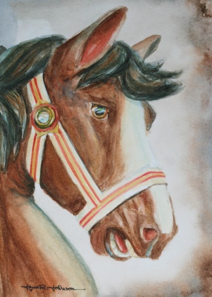 """Painted Pony"" original fine art by Jana Johnson"
