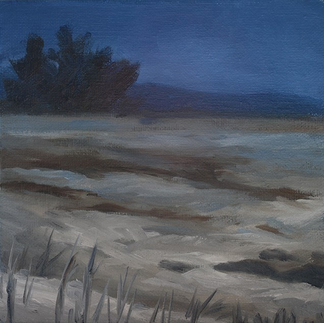"""Snowy Evening"" original fine art by J M Needham"