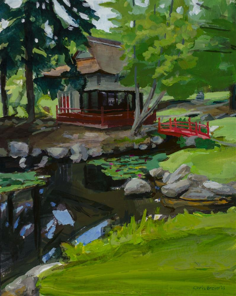 """Japanese Gardens"" original fine art by Chris Breier"