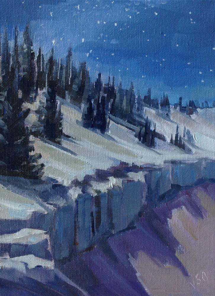 """Cedar Breaks Starlight"" original fine art by Valerie Orlemann"