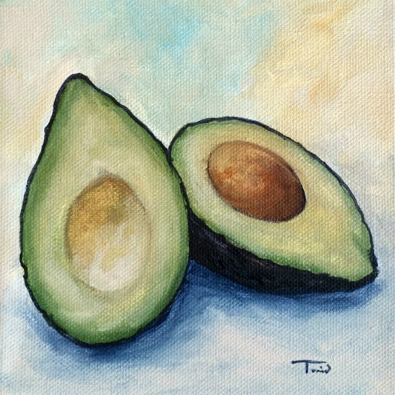 """Avocado III"" original fine art by Torrie Smiley"