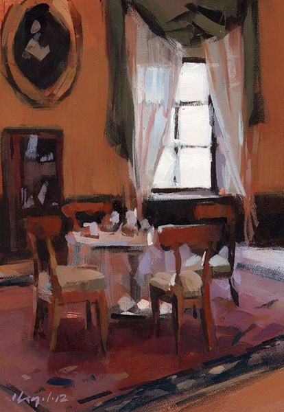 """Tea - Quick Study"" original fine art by David Lloyd"