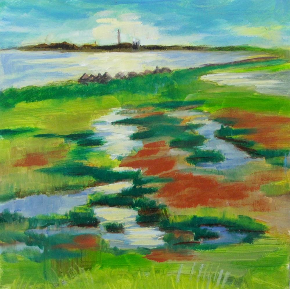 """Marshes At the Cape"" original fine art by Christine Holzschuh"