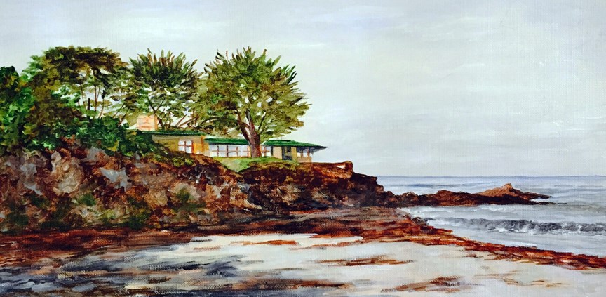 """On the Cliff"" original fine art by Nan Johnson"
