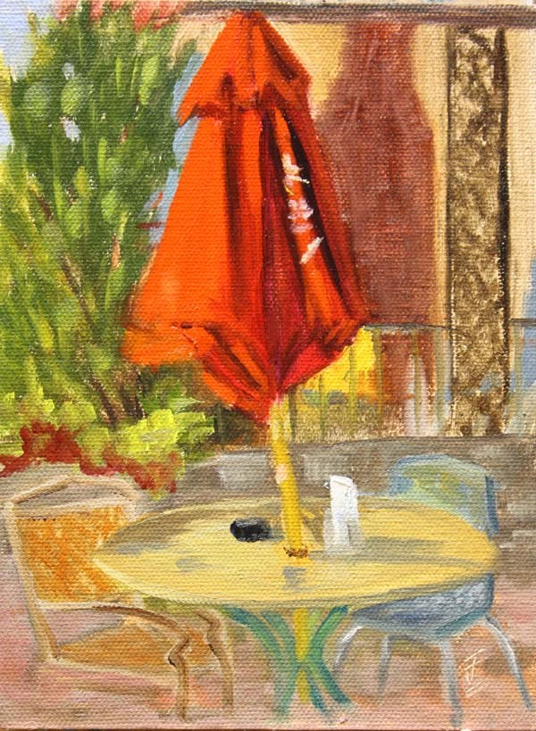 """Table for Two"" original fine art by Jane Frederick"