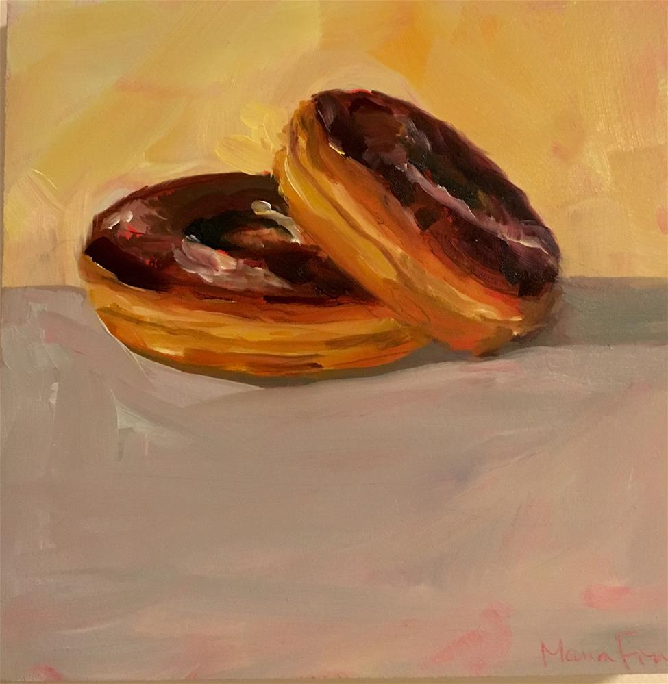 """Two Donuts"" original fine art by maura fine"