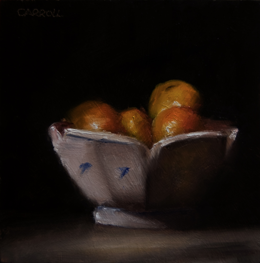 """Bowl of Baby Mandarins"" original fine art by Neil Carroll"