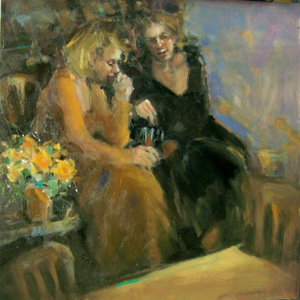 """Girl Talk"" original fine art by Kim Roberti"