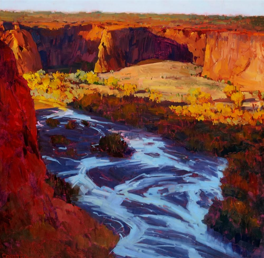 """TSEGI Canyon de Chelly"" original fine art by James Coulter"