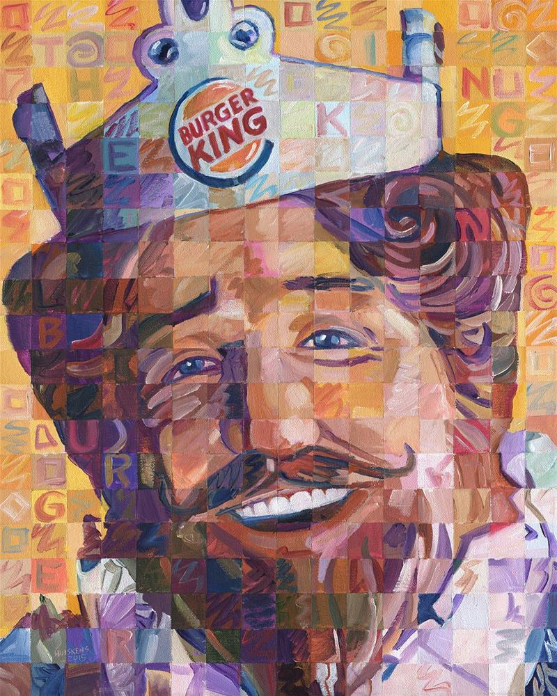 """The Burger King"" original fine art by Randal Huiskens"