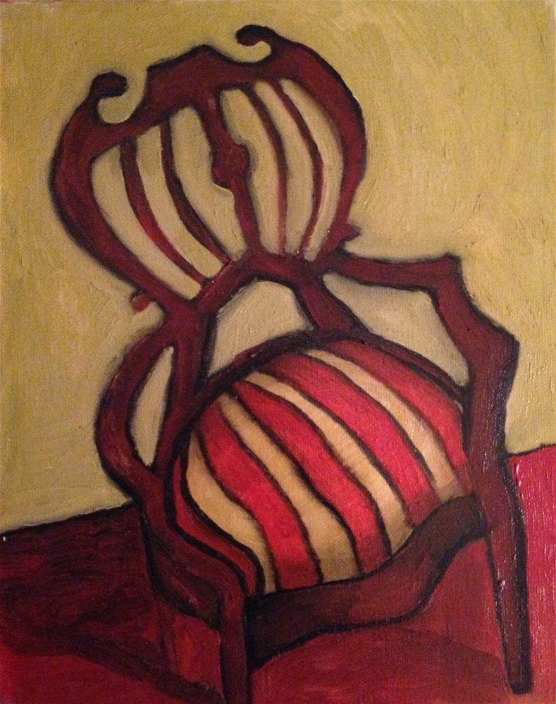 """Christmas Chair"" original fine art by Pamela Hoffmeister"