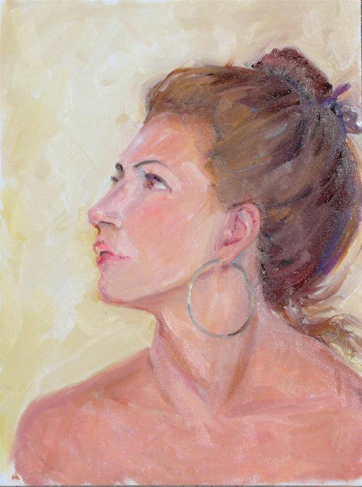 """Sasha,portrait,oil on canvas pad,16x12,price$275"" original fine art by Joy Olney"