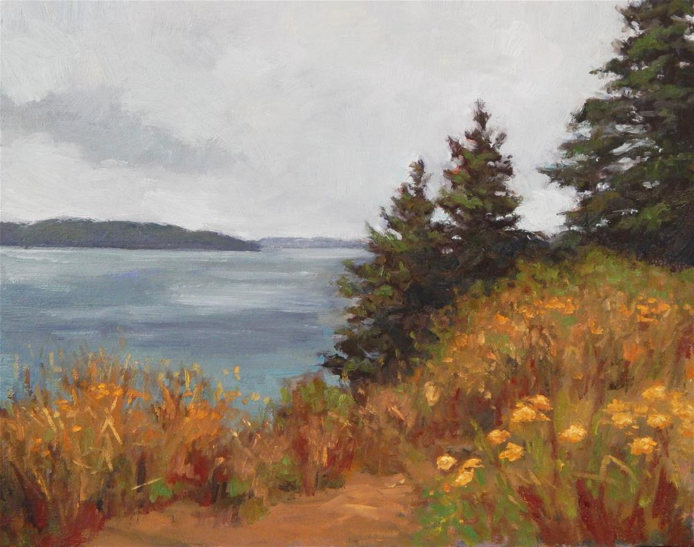 """Autumn by the Sea"" original fine art by Lisa Kyle"