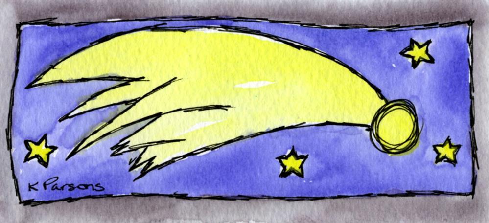 """Shooting Star"" original fine art by Kali Parsons"