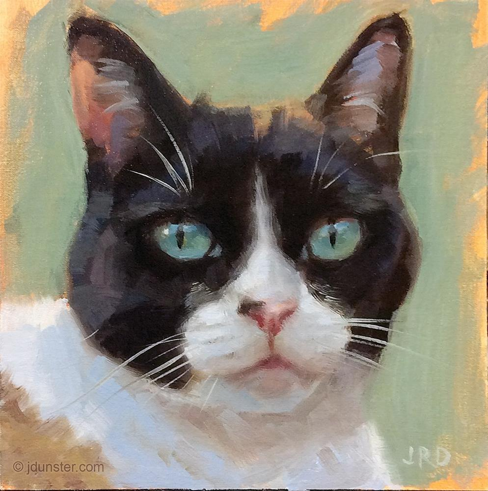 """Multi-Color Cat"" original fine art by J. Dunster"