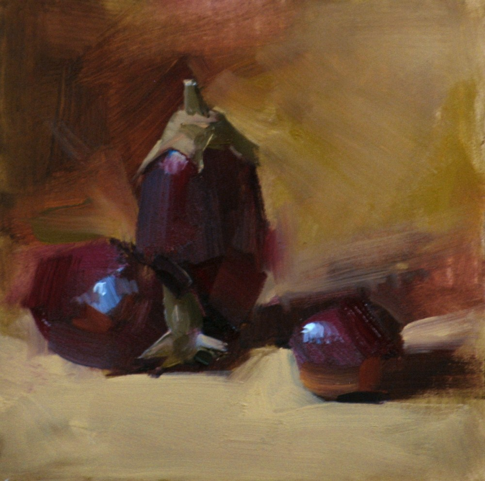 """Three Egges"" original fine art by Qiang Huang"