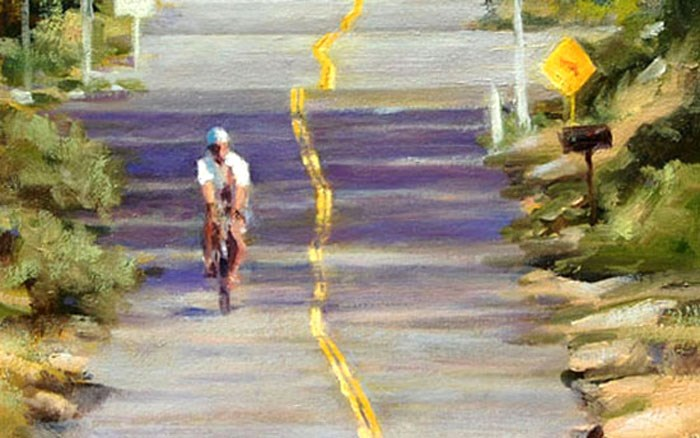 """CYCLING"" original fine art by Dj Lanzendorfer"