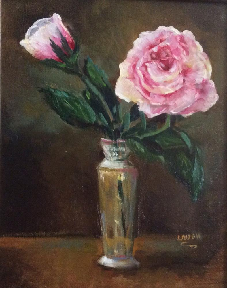 """Rosy Roses"" original fine art by Charlotte Lough"