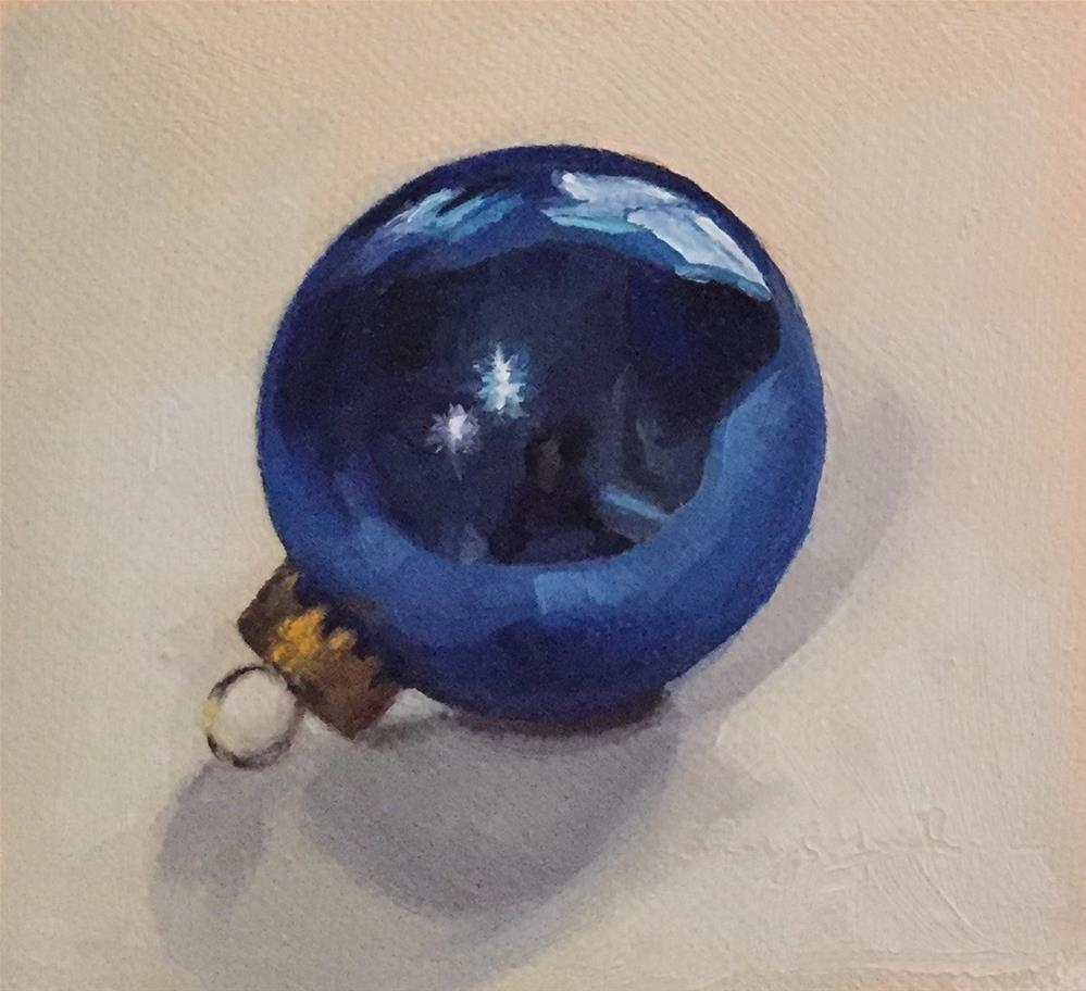 """Blue Ornament"" original fine art by Cheryl Meehan"