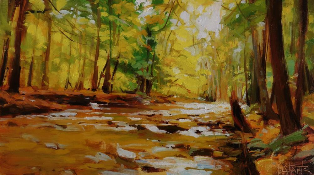 """Yellow trees"" original fine art by Víctor Tristante"