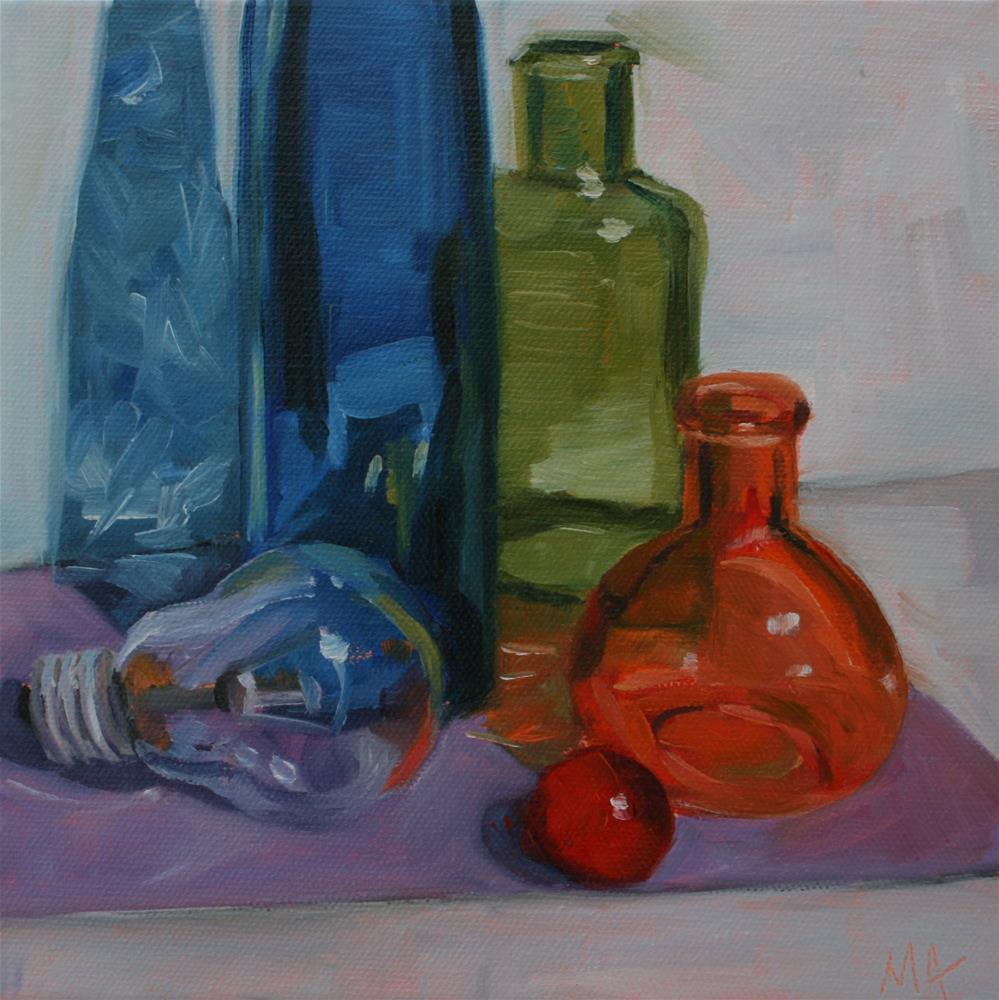 """Glasses"" original fine art by Aniko Makay"