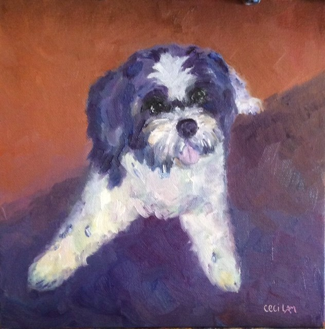 """Pup Portraits"" original fine art by Ceci Lam"