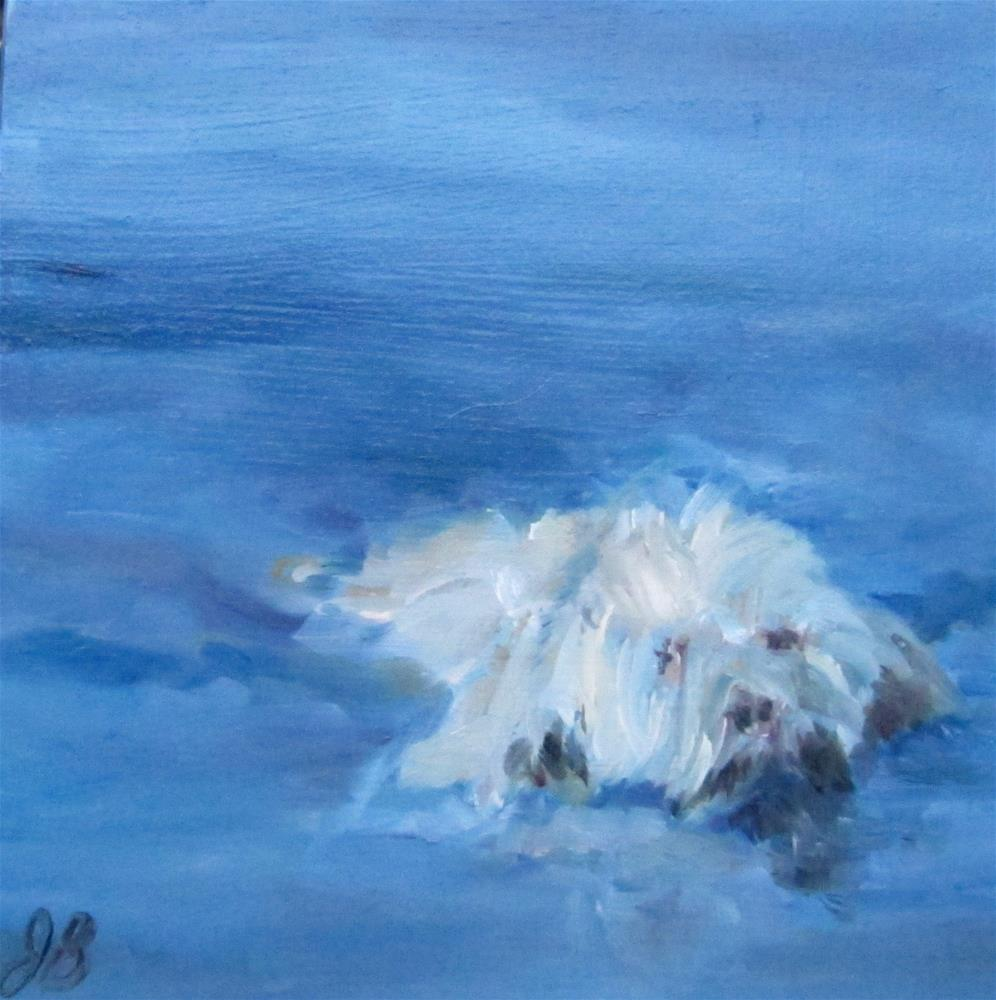 """Fearless hound"" original fine art by Janine Blackburn"