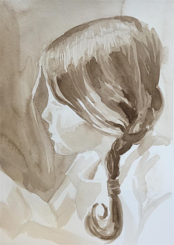 """Elsie (sketch #4)"" original fine art by Cindy McDonough"