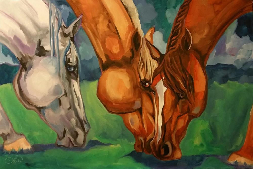 """Grazing"" original fine art by Leni Tarleton"