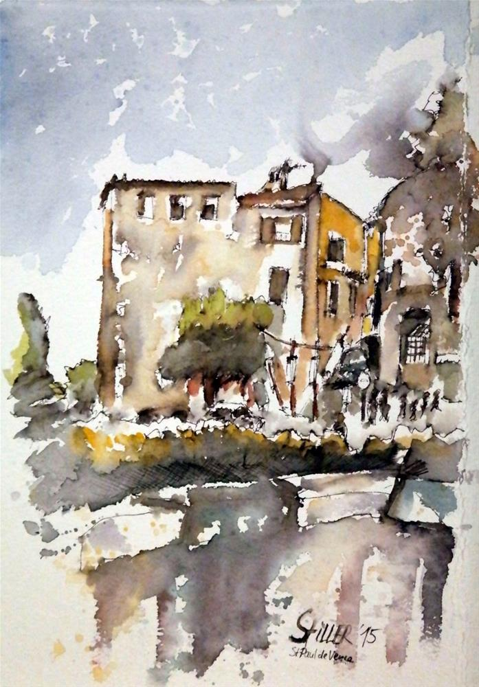 """1513 Saint-Paul de Vence"" original fine art by Dietmar Stiller"