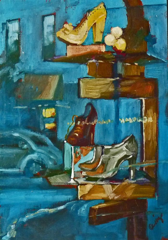 """Window Shopping"" original fine art by Sharman Owings"