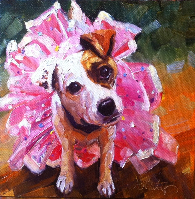 """MUTTCRACKER SWEET"" original fine art by Kristy Tracy"