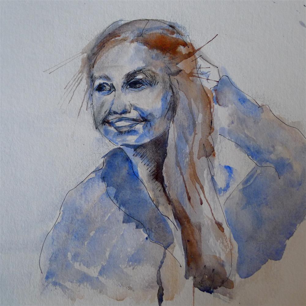 """""""Janne"""" original fine art by Ulrike Schmidt"""