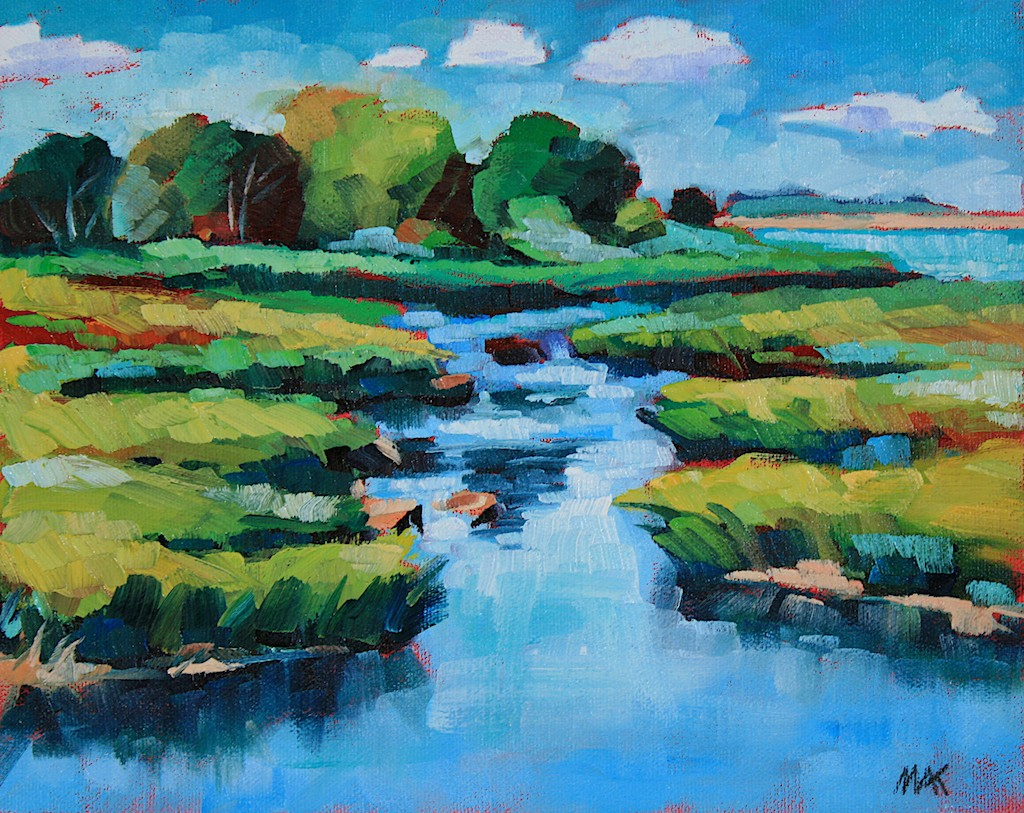 """Marsh"" original fine art by Mary Anne Cary"