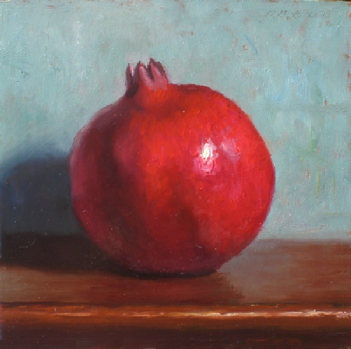 """Pomegranate"" original fine art by Debra Becks Cooper"