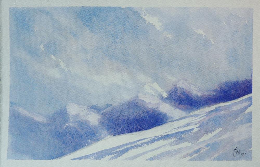 """Rila Mountains"" original fine art by Martin Stephenson"
