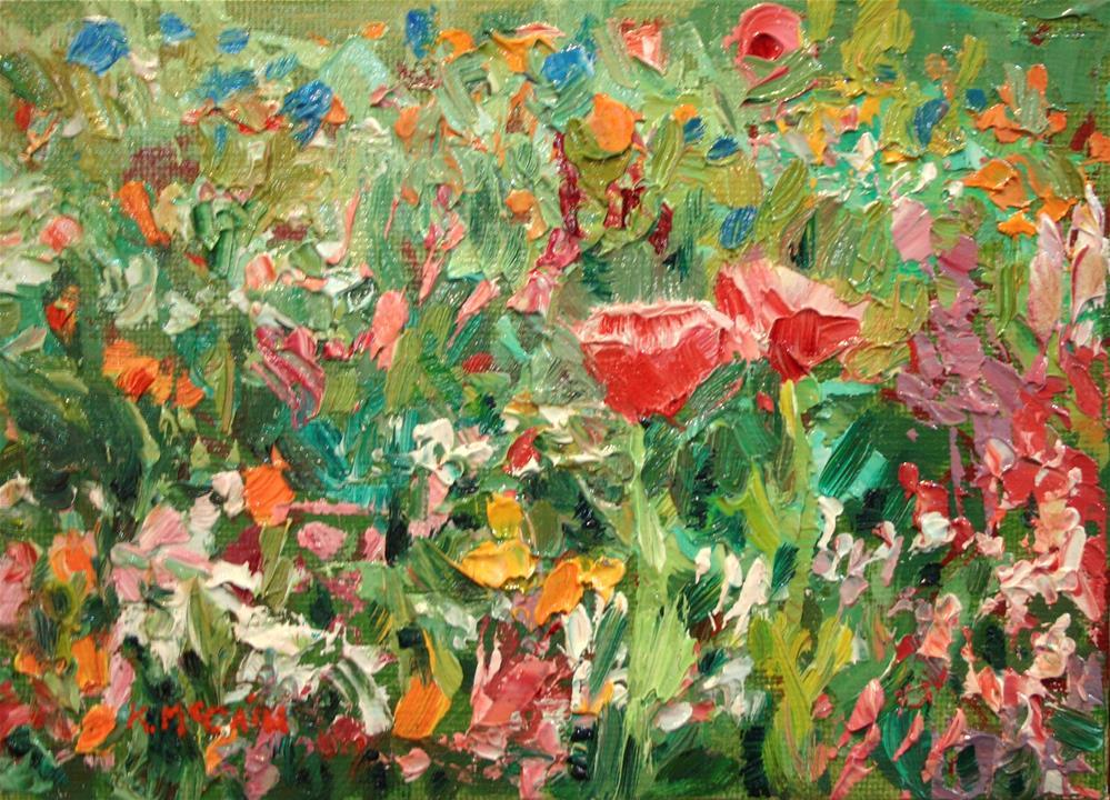 """Wildflowers"" original fine art by K.R. McCain"